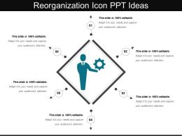 Reorganization Icon Ppt Ideas