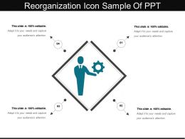 Reorganization Icon Sample Of Ppt