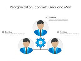 Reorganization Icon With Gear And Man