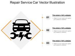 Repair Service Car Vector Illustration