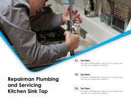 Repairman Plumbing And Servicing Kitchen Sink Tap