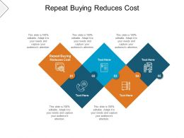 Repeat Buying Reduces Cost Ppt Powerpoint Presentation Infographic Aids Cpb