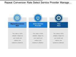 Repeat Conversion Rate Select Service Provider Manage Relationship