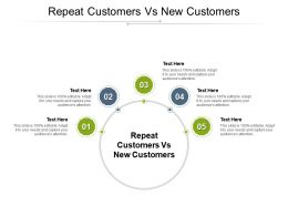 Repeat Customers Vs New Customers Ppt Powerpoint Presentation Background Images Cpb