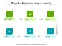 Repeated Measures Design Example Ppt Powerpoint Presentation Professional Layout Cpb