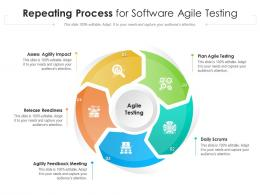 Repeating Process For Software Agile Testing
