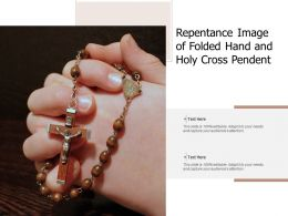 Repentance Image Of Folded Hand And Holy Cross Pendent