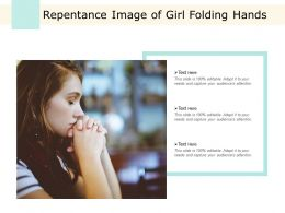 Repentance Image Of Girl Folding Hands