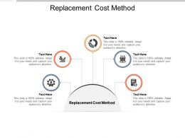 Replacement Cost Method Ppt Powerpoint Presentation Layouts Sample Cpb