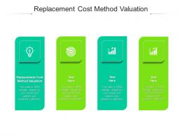 Replacement Cost Method Valuation Ppt Powerpoint Presentation Infographic Template Model Cpb