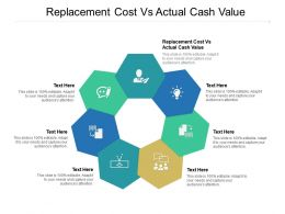 Replacement Cost Vs Actual Cash Value Ppt Powerpoint Infographics Designs Cpb