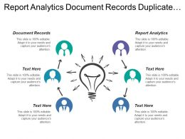 Report Analytics Document Records Duplicate Resolution Financial Reporting