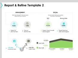 Report And Refine Template Engagement Ppt Powerpoint Presentation File