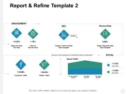 Report And Refine Template Social Traffic Ppt Powerpoint Presentation File Visuals