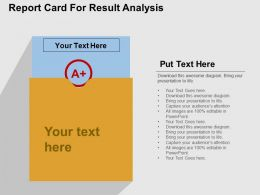 Report Card For Result Analysis Flat Powerpoint Design