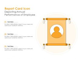 Report Card Icon Depicting Annual Performance Of Employee
