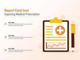 Report Card Icon Depicting Medical Prescription