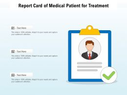 Report Card Of Medical Patient For Treatment