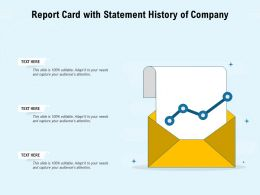 Report Card With Statement History Of Company