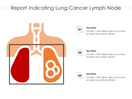 Report Indicating Lung Cancer Lymph Node