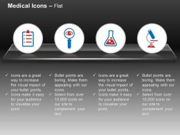 Report Search Chemical Medicine Microscope Ppt Icons Graphics