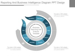 Reporting And Business Intelligence Diagram Ppt Design
