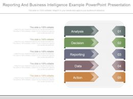 Reporting And Business Intelligence Example Powerpoint Presentation