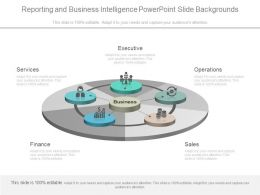 Reporting And Business Intelligence Powerpoint Slide Backgrounds