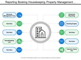 Reporting Booking Housekeeping Property Management With Circles And Icons