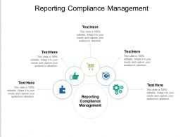 Reporting Compliance Management Ppt Powerpoint Presentation Gallery Graphics Tutorials Cpb