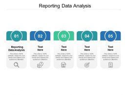 Reporting Data Analysis Ppt Powerpoint Presentation Outline Templates Cpb