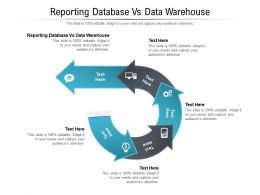 Reporting Database Vs Data Warehouse Ppt Powerpoint Presentation Show Styles Cpb