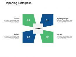 Reporting Enterprise Ppt Powerpoint Presentation Slides Design Ideas Cpb