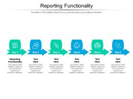 Reporting Functionality Ppt Powerpoint Presentation Icon Mockup Cpb