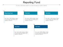 Reporting Fund Ppt Powerpoint Presentation Show Icon Cpb