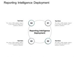 Reporting Intelligence Deployment Ppt Powerpoint Presentation Infographic Template Graphics Pictures Cpb