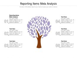 Reporting Items Meta Analysis Ppt Powerpoint Presentation Styles Objects Cpb