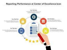 Reporting Performance At Center Of Excellence Icon