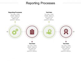 Reporting Processes Ppt Powerpoint Presentation Ideas Background Images Cpb
