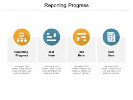 Reporting Progress Ppt Powerpoint Presentation Icon Visual Aids Cpb