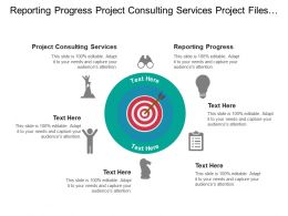 Reporting Progress Project Consulting Services Project Files Social Media