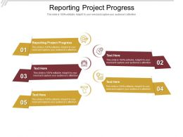 Reporting Project Progress Ppt Powerpoint Presentation Inspiration Cpb
