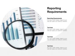 Reporting Requirements Ppt Powerpoint Presentation Outline Designs Cpb