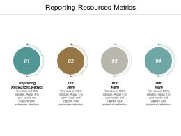 Reporting Resources Metrics Ppt Powerpoint Presentation Ideas Template Cpb
