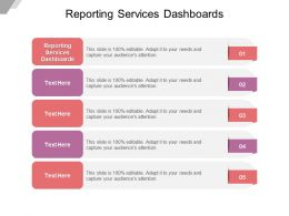 Reporting Services Dashboards Ppt Powerpoint Presentation Pictures Sample Cpb
