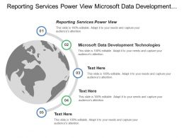 Reporting Services Power View Microsoft Data Development Technologies