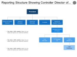 Reporting Structure Showing Controller Director Of Education