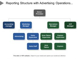 Reporting Structure With Advertising Operations Manager Sales Staff