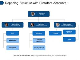 Reporting Structure With President Accounts Treasury Customer Services