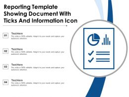 Reporting Template Showing Document With Ticks And Information Icon